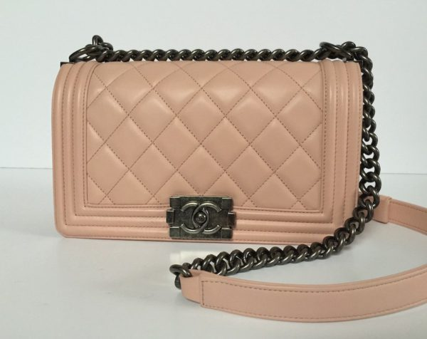e2d2b8ec731 Chanel Boy Bag Powder Pink Medium. IMG 6837. IMG 6838. IMG 6816