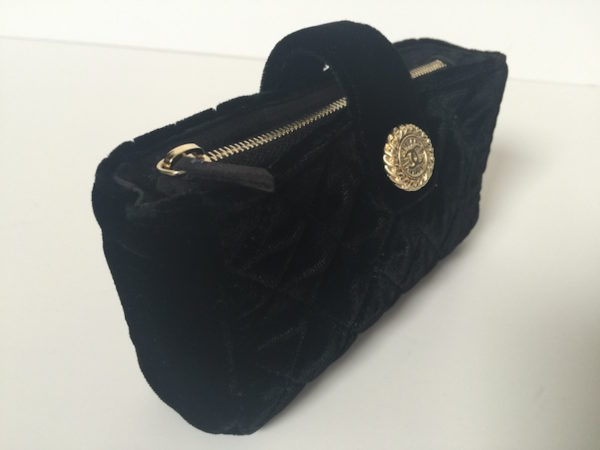 4f6dc0e9b505 Mini Chanel Pochette in Black Velvet -
