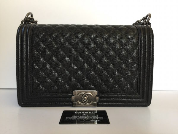 6d395edf041525 Chanel Boy Bag New Medium 28cm Caviar Leather. IMG_8967. IMG_8970. IMG_9048