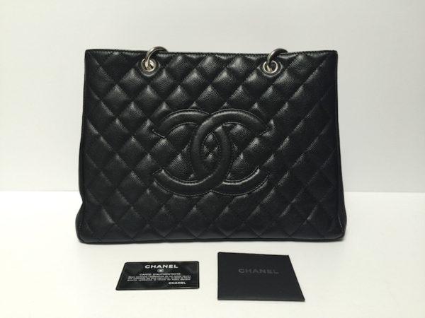 af8ee6780c19de Black Chanel handbag GST Bag