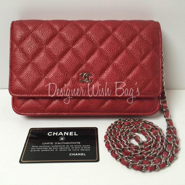 ad217ce03ee8 Designer handbags chanel handbags Chanel WOC Raspberry Red Caviar