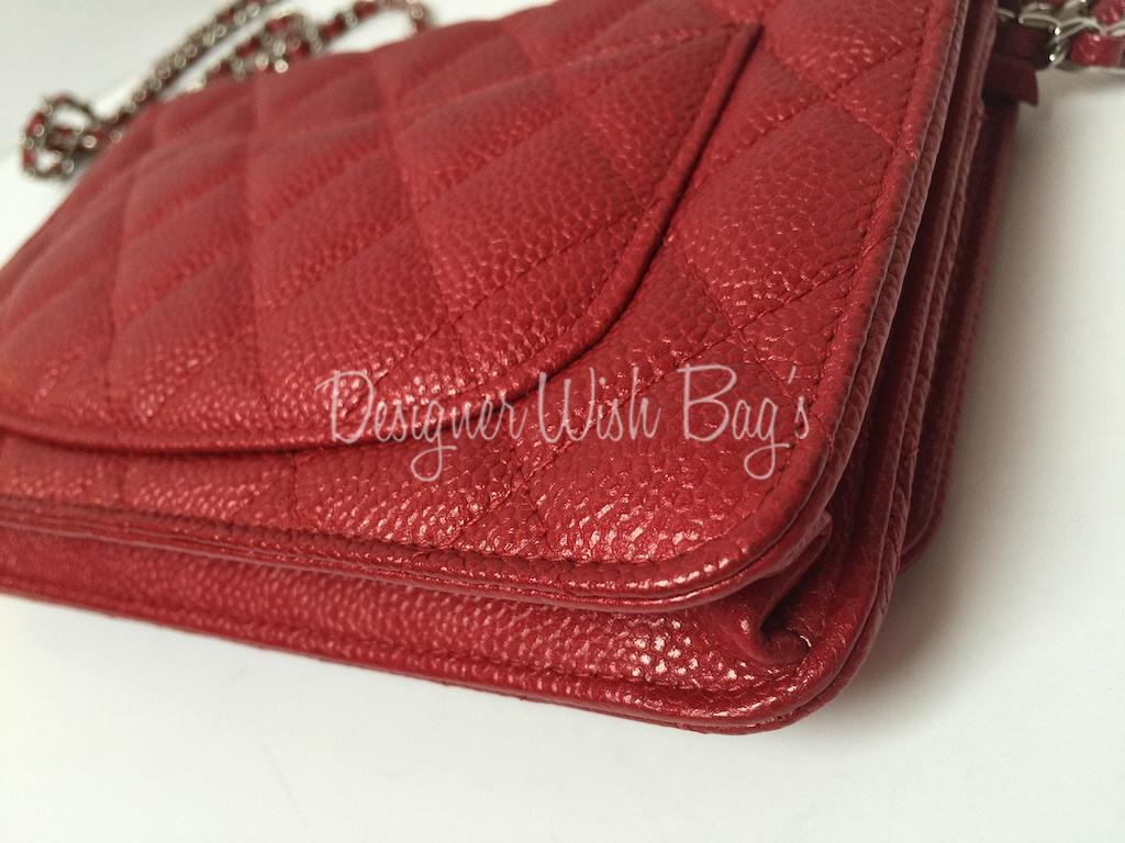b520966d5801 Designer handbags chanel handbags Chanel WOC Raspberry Red Caviar -