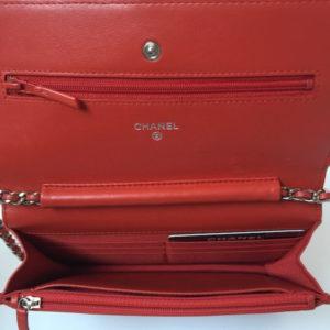 Chanel WOC Bag Red LambskinDesigner handbags chanel handbags