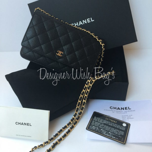 4ebb106999abcb Chanel WOC Black Caviar Leather Designer handbags chanel handbags