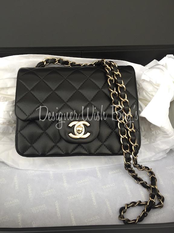 bb2ba332cd11 Chanel Mini Square Black Bag -