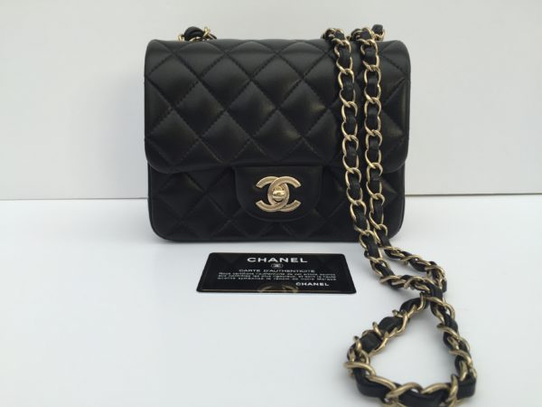 ba08fe6c978216 Chanel Mini Square Black Bag. IMG_2801. IMG_2802. IMG_2783
