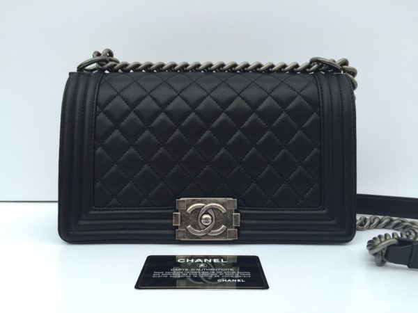 28a1a5cbdf7d Medium Chanel Boy Bag Black Calfskin. IMG_3076. IMG_3077. IMG_3050