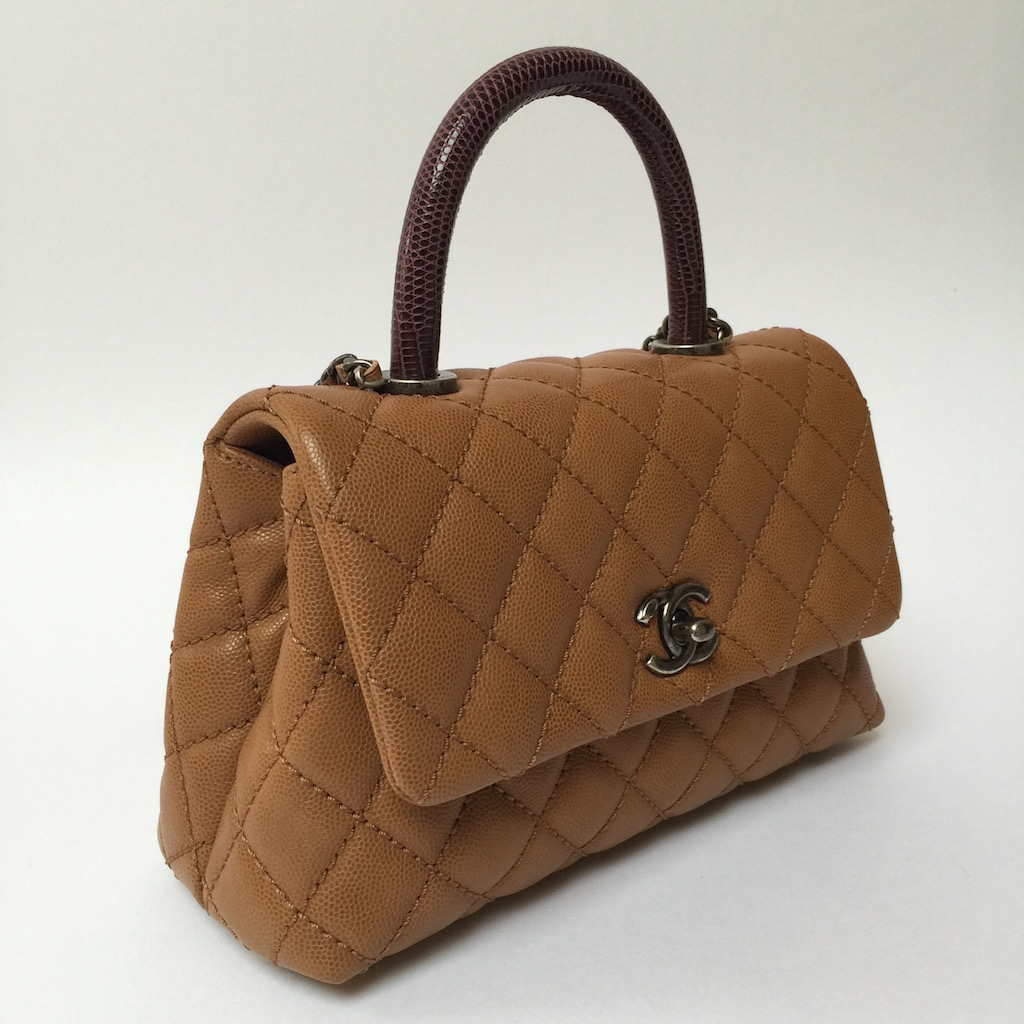 Chanel Coco Flap Bag Lizard Handle - : coco chanel quilted handbag - Adamdwight.com
