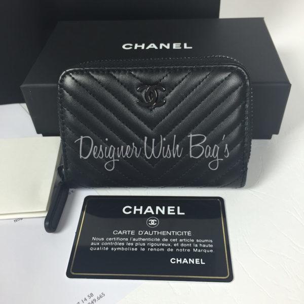 Chanel chevron all black walletcard holder brand new chanel chevron all black walletcard holder brand new reheart Choice Image