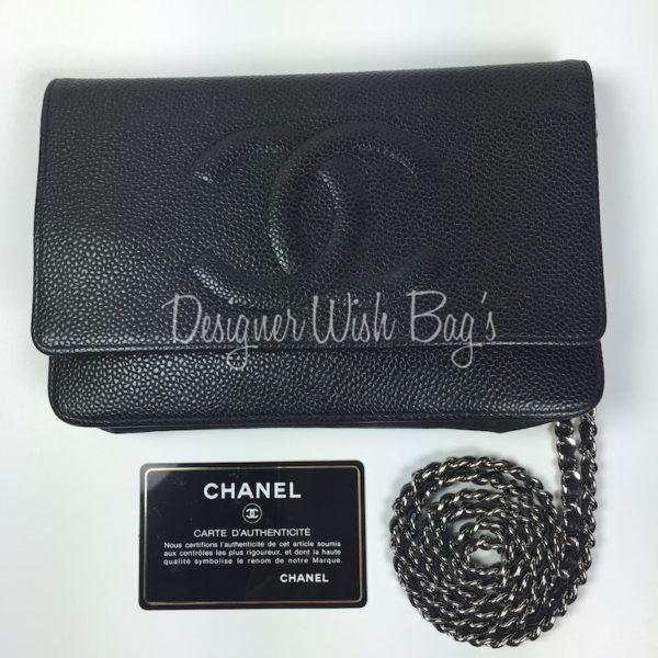69ca7d3d0d6d Chanel WOC Black Caviar CC -