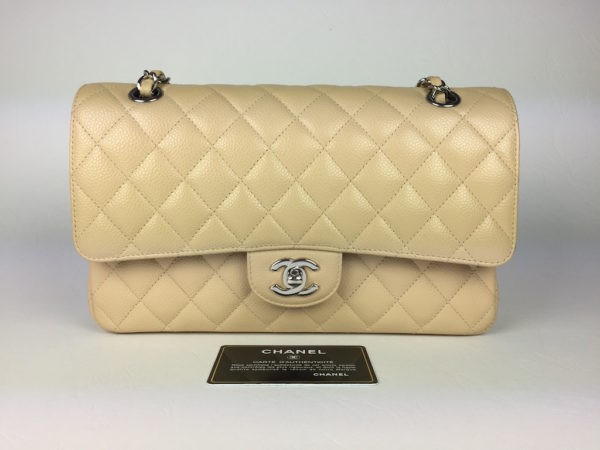 c66d12abe4bc18 Chanel Timeless Double Flap Beige Caviar Medium. IMG_9731. IMG_9735.  IMG_9706