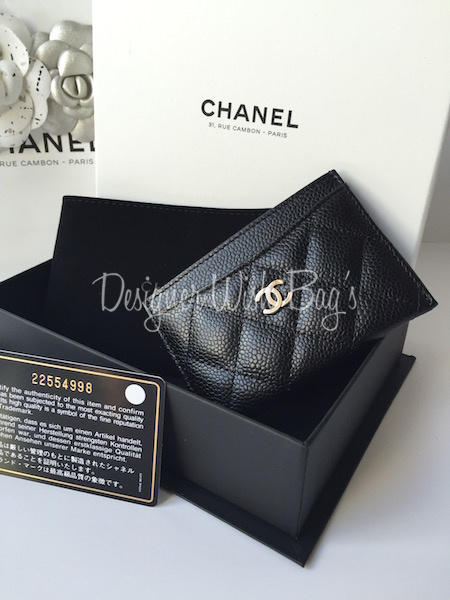 fea10ea979a Chanel Card Holder Timeless Quilting Caviar Leather - NEW!! -
