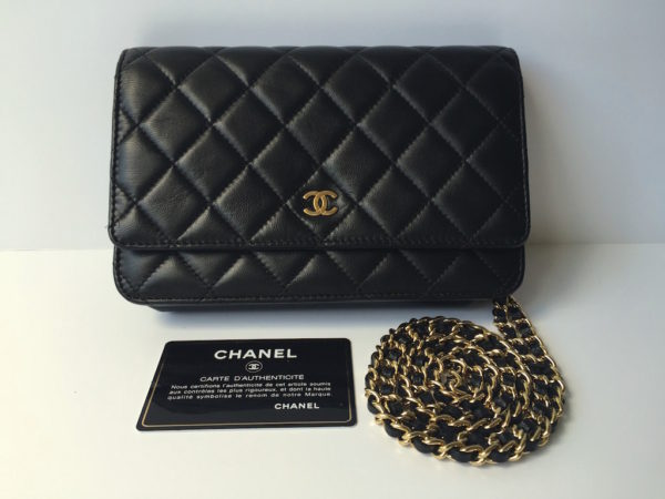 272c99c1d054 Chanel WOC Black Lambskin with Gold Hdw -