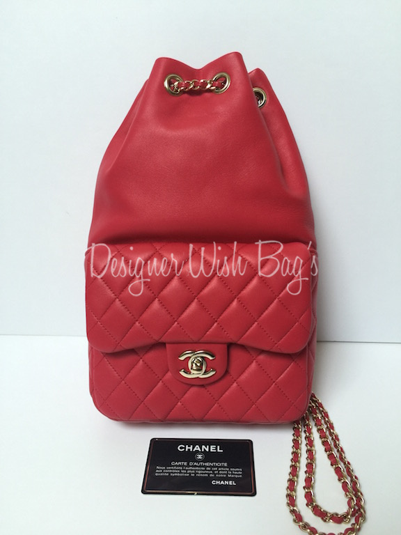 4f6301ad28e2 Brand New Chanel Backpack Cruise 2015/16 Collection -