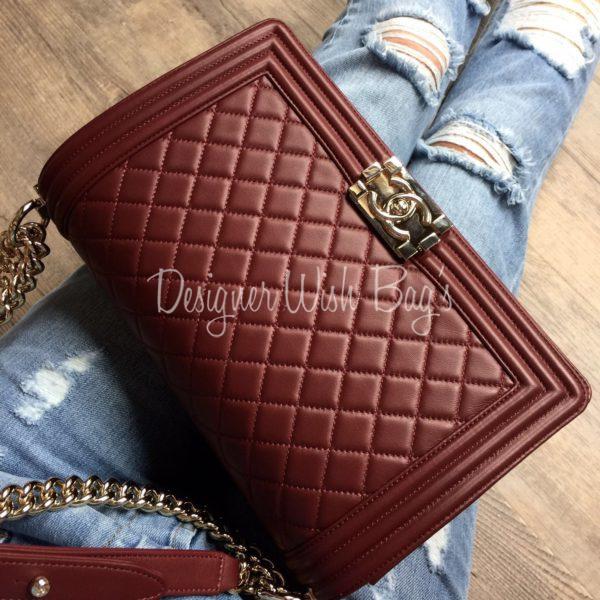 e94da519024b Chanel Boy New Medium Burgundy -