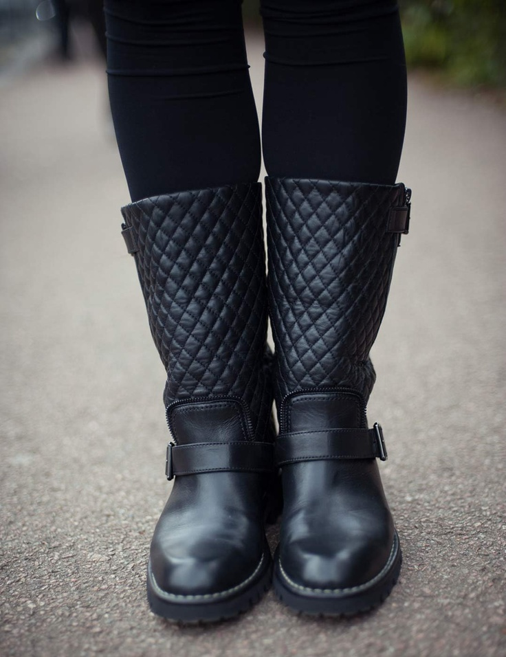 Chanel Biker Boots 37.5 - : quilted biker boots - Adamdwight.com