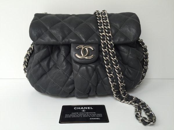 Chanel Chain Around Medium Large Anthracite Img 9134 9120 9121