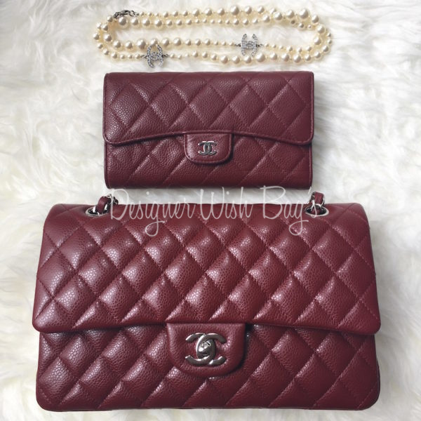 84f734189ac1 Chanel Wallet Burgundy Caviar -