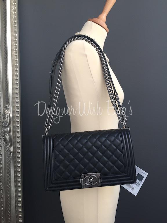 12cdbdef1794c2 Chanel Boy Medium Black - NEW! -