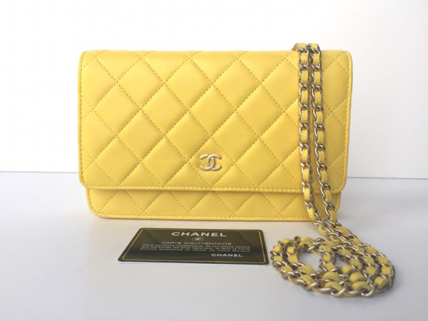 391e050253e Chanel Caviar Wallet On Chain Yellow Best Photo. 2249. Chanel Woc Yellow