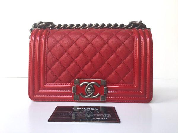 6679ae3b Chanel Boy Red Small