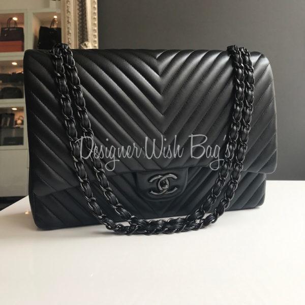 f6576de398d5 Chanel Maxi All Black Chevron – NEW! img_7842. img_7846. IMG_3853