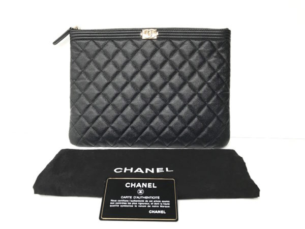 dba8964e0515 Chanel O Case/ Clutch Boy Caviar -