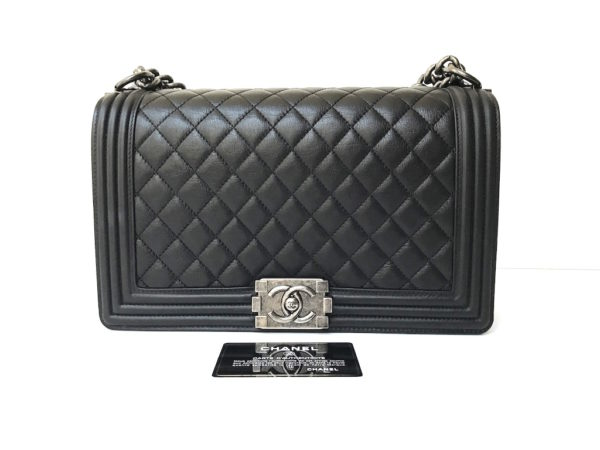 34128cc2800 Chanel Boy New Medium Calf Leather. Chanel Chevron Jersey Flap Bag