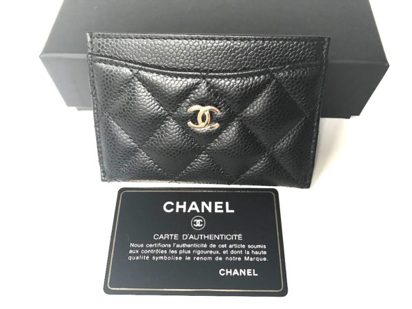 286c168e7ad2e6 Chanel Card Holder Black Caviar - New! -