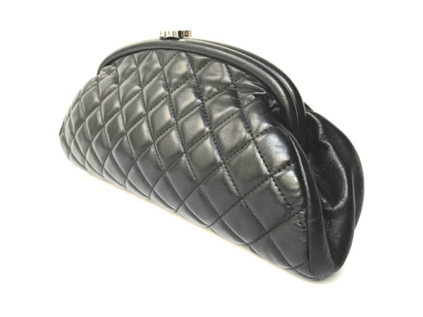 ef587afcc404 Chanel Timeless Clutch Black Lambskin -