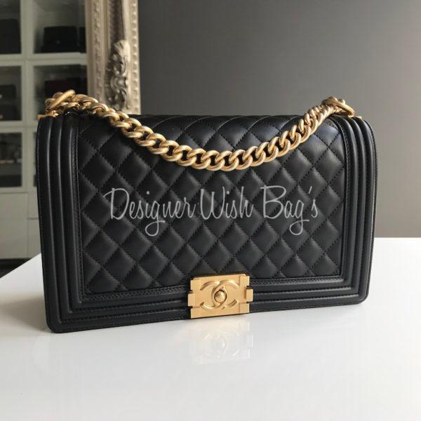 51236d42efad14 Chanel Boy New Medium Black - New! -