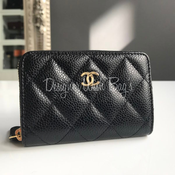 chanel zip coin purse. chanel small zip wallet/ coin purse