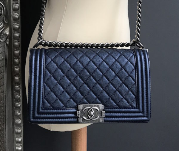 Chanel Boy Metallic Blue - 6bbf5fe764ea