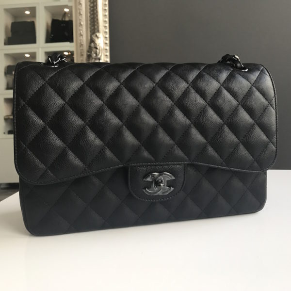 4c5a6da3ac55 Chanel Jumbo SO Black New! SS17 -