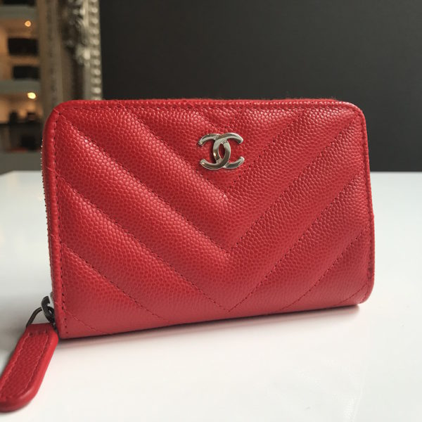 chanel zip coin purse. chanel coin purse red chevron zip
