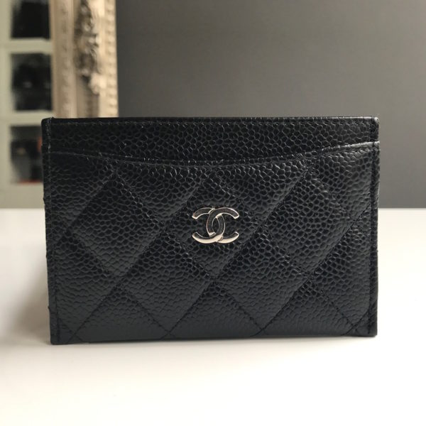 8666e319ad053b Chanel Card Holder Black Caviar -