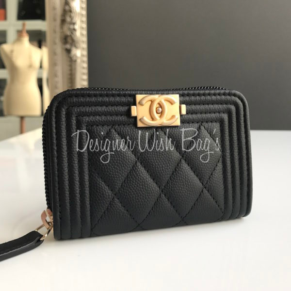 5bf037ed Chanel Coin Purse/Wallet Black GHW