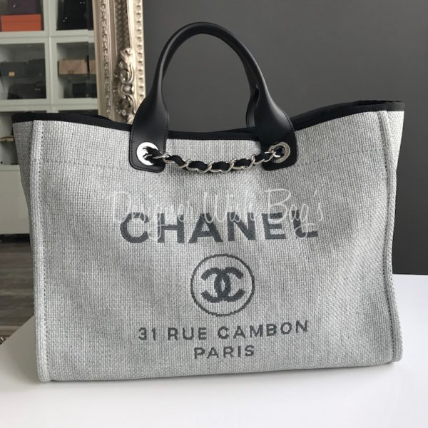 Brand New Chanel Deauville Grey Black
