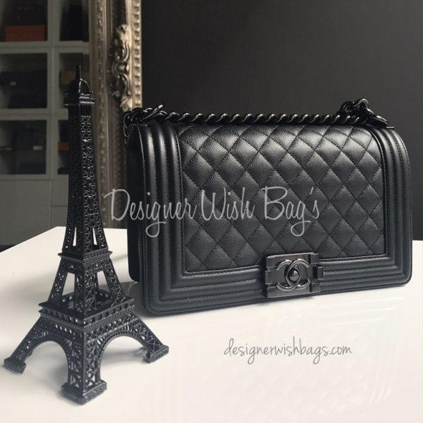 c37c500c53be Chanel Boy So Black Caviar Medium -