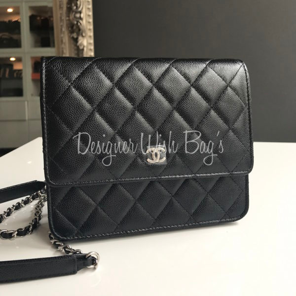 New Chanel Woc Square Black Caviar