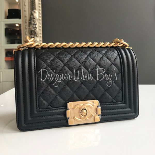 0c50f415ce7e80 Chanel Boy Small Black Caviar GHW New -