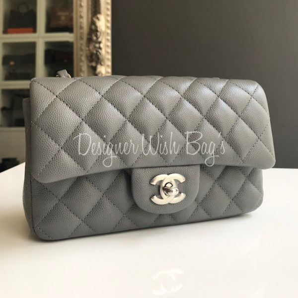 3234d304401c1f Chanel Mini Grey Caviar Rectangular. IMG_9305. IMG_9289. IMG_9291