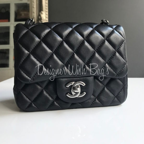 b053cc1f5f39 Chanel Mini Black Lambskin Square. IMG 9424. IMG 9402. IMG 9404