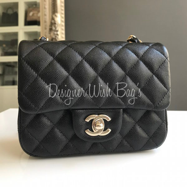 Chanel Mini Square Black Caviar Gold Hdw. IMG 0584. IMG 0587. IMG 0573 1fe355521c833