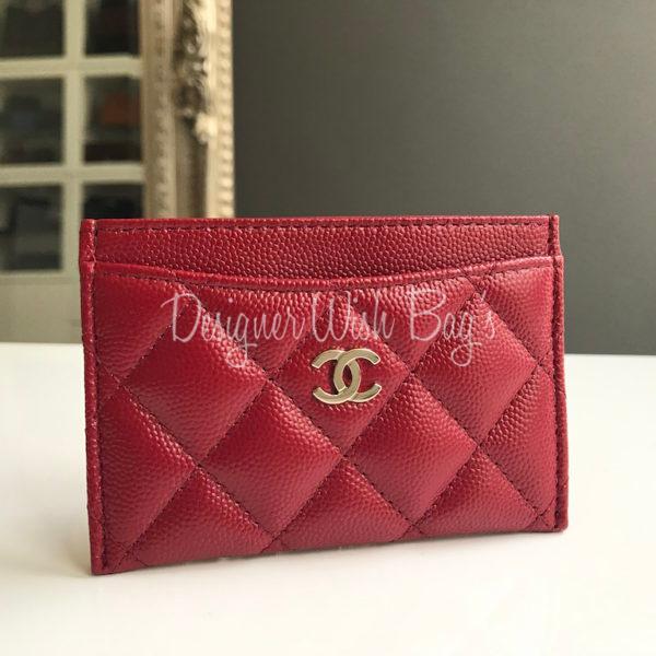 0e6def83b0c964 Chanel Card Holder Red Caviar. IMG_2308. IMG_2309. IMG_2304