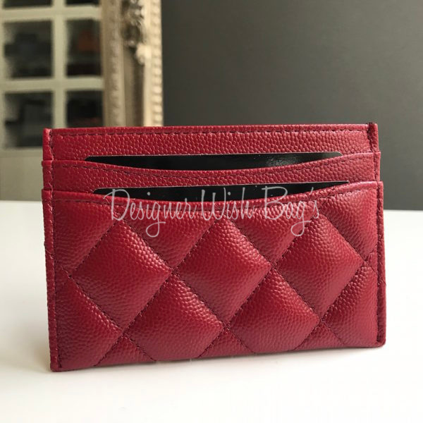 70d267c9f6c5 Chanel Card Holder Red Caviar -