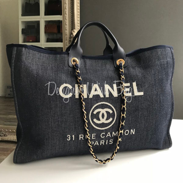 5606d4b06df36a Chanel Deauville Blue Denim Bag. IMG_3218. IMG_3219. IMG_3198