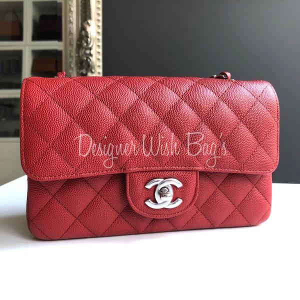 1795b89bba14d8 Chanel Mini Deep Red Caviar C18 -