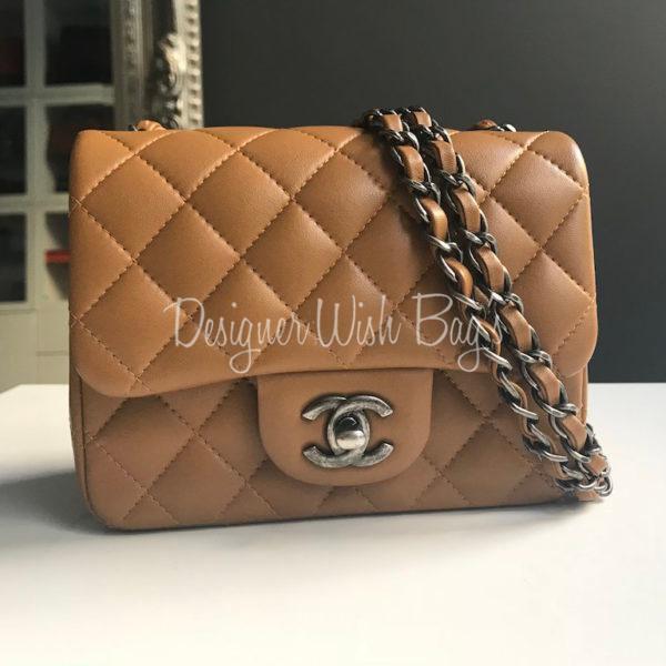 a0a8ec0218b8 Chanel Mini Square Caramel -