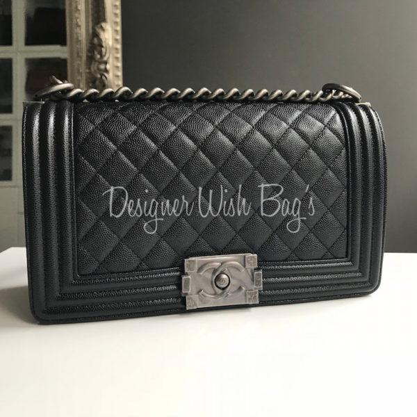 1d8051d39aa570 Chanel Boy Medium Caviar RHW Brand New 25 Series -
